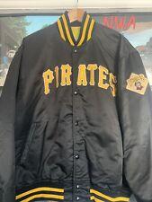 PITTSBURGH PIRATES BLACK VINTAGE  SATIN STARTER  BASEBALL MLB JACKET SIZE XL