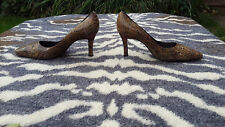 STUART WEITZMAN ANIMAL/ SNAKE PRINT ALL REAL LEATHER SHOES size 38, UK 5