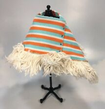 Barbie Doll sized Clothing: unlabled Fringed striped Poncho