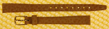 10mm HIRSCH Leather TAN Watch Strap Band MADE IN AUSTRIA 10x8