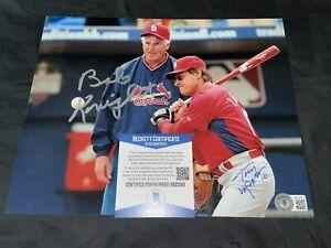 Bobby Knight & Tony LaRussa Signed 8x10 Photo U Of I Coach, Cardinals Beckett