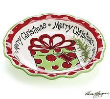 Christmas Serving Bowl Burton and Burton Hand Painted