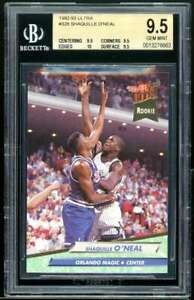 Shaquille O'neal Rookie Card 1992-93 Ultra #328 BGS 9.5 (9.5 9.5 10 9.5)