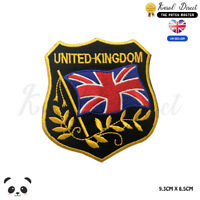 United Kingdom Flag Embroidered Iron On Sew On PatchBadge For Clothes etc