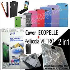COVER ECOPELLE VERTICALE+PELLICOLA VETRO PER SAMSUNG GALAXY GRAND NEO PLUS