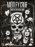 MOTLEY CRUE RARE CONCERT POSTER NEW YORK SHOUT AT THE DEVIL 1983 #73/200