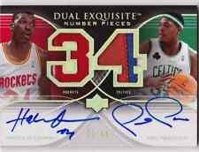 2006-07 Exquisite HAKEEM OLAJUWON PAUL PIERCE Dual Number Pieces Auto Patch # 34
