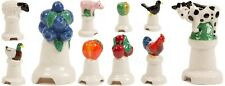 More details for milton brook hand-painted pie funnels wade ceramics: duck cow pig sheep rooster
