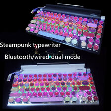 Steam Punk Pink Light 104 83 Keyboard Bluetooth Wireless Wired for Ipad Computer