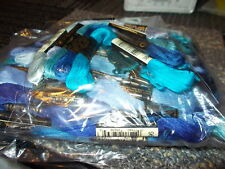 5 Skeins DMC stranded cotton - Mixed BLUE colours - Cross Stitch - Embroidery