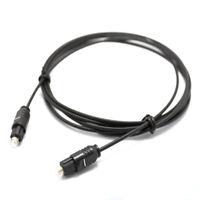 FCLUO Premium Digital Audio Fiber Optical Cable SPDIF Cord 1M/2M/3M For HDTV CD