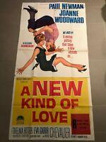 Original 3-Sheet Poster 41x81: A New Kind of Love (1963) Paul Newman