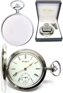 Woodford Hunter Pocket Watch, 17 Jewel CP, Seconds Dial, Free Engraving (1070)