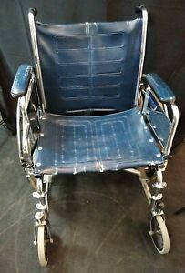 Invacare Tracer IV DLX Wheelchair / Used / Arm Rests / Blue Vinyl
