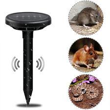 New listing 2x Solar Power Ultrasonic Animal Repeller Pest Repellent Snakes Mouse Garden Us