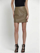 57195ad5c3 RIVER ISLAND Skirt - River Island Brown Textured Faux Leather A Line Mini  Skirt