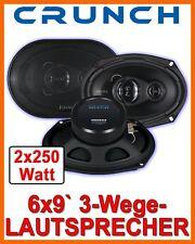 Crunch DSX693 6x9Zoll Triaxe Lautsprecher NEU BASS BOXEN SET PAAR AUTO HUTABLAGE