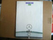Opuscoli di Vendita Mercedes 220 D Anno 1968 16 Pagine N° 1233 F Dicembre / 1967