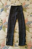 Aerie Chill Play Move High Waist Black and Gray Yoga Crop Pants Size S VGUC