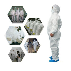 Hazmat Suit Anti-Virus Protection Clothing Safety Coverall Disposable Healthcare