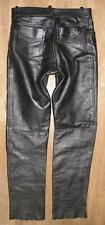 """"""" FINESMO """" Men's Leather Jeans/Motorcycle - Trousers IN Black Approx. W32 """" /"""
