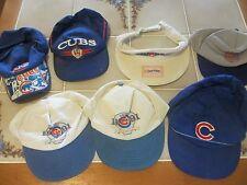Chicago Cubs CAPS - Baseball - Taz - Vintage - Visor - GO Cubs GO! quantity 7 .