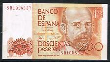 ESPAÑA 200 PESETAS 1980 ALAS CLARIN Serie 8B    SC  UNC