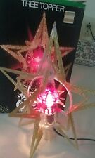 Vintage Merry Glow Sputnik Star/ Rotating Christmas Tree Topper in Original Box!