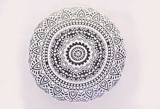 Indian 100% Cotton Round Mandala Cushion Cover Pillow For Living Room 2 Piece