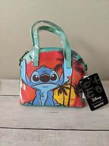 Loungefly Disney Lilo and Stitch Mini Dome Crossbody Bag Purse NEW Summer Days