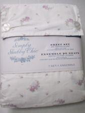 Rachel Ashwell Simply Shabby Chic Lavender Purple Lilac Floral Sheet Set- Full
