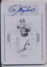 LAWRENCE TAYLOR 2016 National Treasures #67 PRINTING PLATE AUTO TRUE 1/1 GIANTS
