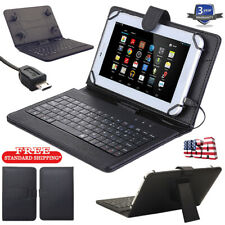 New Black Stand PU Leather Case with Micro USB Keyboard for 10