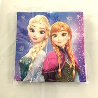 20x Disney Frozen Party Anna Elsa Printed Napkins Party Supply Serviette Tablewa