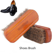 Horse Hair Shoe Brush Polish Natural Leather Real Soft Polishing Tool Boot New~