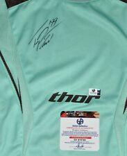 TRAVIS PASTRANA SIGNED THOR MINT GREEN CORE JERSEY-XL-CARMICHAEL,MCGRATH, DUNGEY