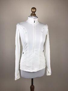 Athleta Women's Active Jacket Cardigan Zip White Pockets Thumhole Size XS