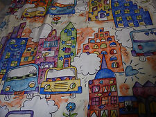 Set of friendly houses and cards novelty childrens room handmade curtains lot