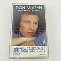 American Pie And Other Hits By Don Mclean Audio Cassette Tape 1985
