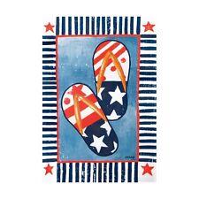 "Patriotic Flip Flops Large Porch Flag 28"" X 40"" Seasonal 24-1715-156 Spring"