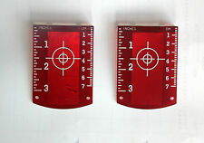 Two Magnetic Red Laser Target For Use With Laser Levels - Cross Line Laser