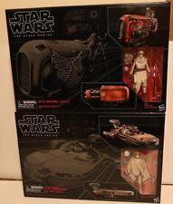X2 Star Wars Black Series Rey Speeder & Luke X-34 Landspeeder Lot of 2 Vehicles