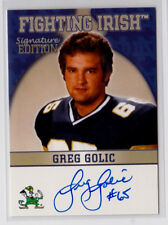 Greg Golic 2003 TK Legacy Notre Dame Fighting Irish Autograph Auto Card FI5
