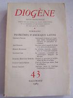 DIOGENE , PROBLEMES D ' AMERIQUE LATINE N° 43 .