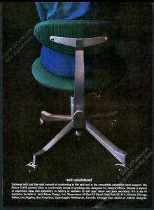 1961 Jens Risom C-942 green posture chair photo vintage print ad