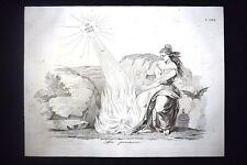Incisione d'allegoria e satira Oudinot, Garibaldi, Calandrelli Don Pirlone 1851