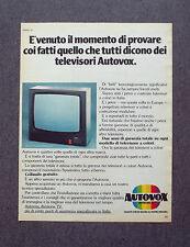 H214 - Advertising Pubblicità - 1977 - AUTOVOX DIVISIONE TV