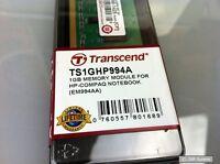 Transcend TS1GHP994A 1GB RAM Arbeitsspeicher (667 MHz, DDR2) für Notebooks, NEU