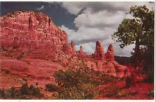 Oak Creek Canyon ARIZONA Red Rock Formations (Movie Backdrop) ~ 1962 Chrome