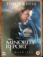 Tom Cruise MINORITY REPORT ~ 2002 Steven Spielberg Sci-Fi Classic UK 2-Disc DVD